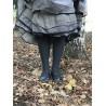 chaussettes cable over-the-knee en laine et cachemire gris foncé