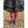 chaussettes multi color dot knee high en laine et cachemire rouge