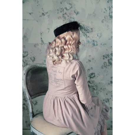 robe Heartfelt life en coton et lin rose