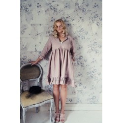 dress Heartfelt life in Pink cotton and linen