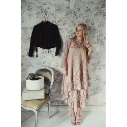 robe Lost bohemian en dentelle rose
