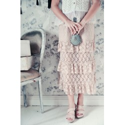 skirt Great moods in Pink Powder cotton