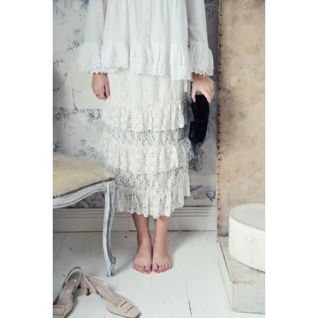 jupe Great moods en coton blanc