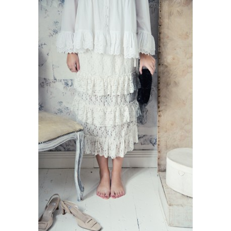 skirt Great moods in White cotton