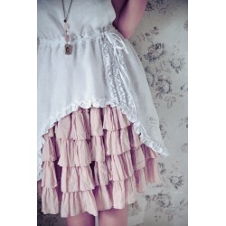 skirt Soulful temptations in Pink Powder cotton