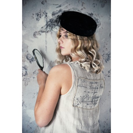 vest Memorable hearts in Natural linen