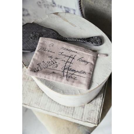 pochette Heartfelt life en coton beige