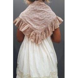 triangle MALOE coton vieux rose