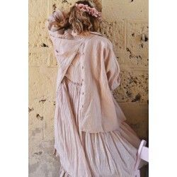 veste SOPHIA lin vieux rose