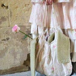 sac ANDREA coton fleurs et pois