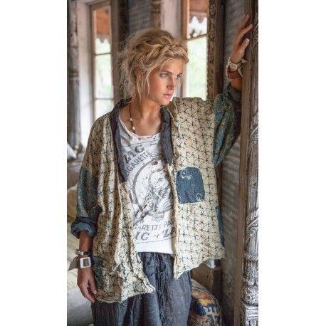 veste Beatrix Short Kimono in Tonga