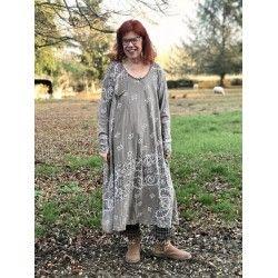 robe Silas Paisley Sofiane in Clay