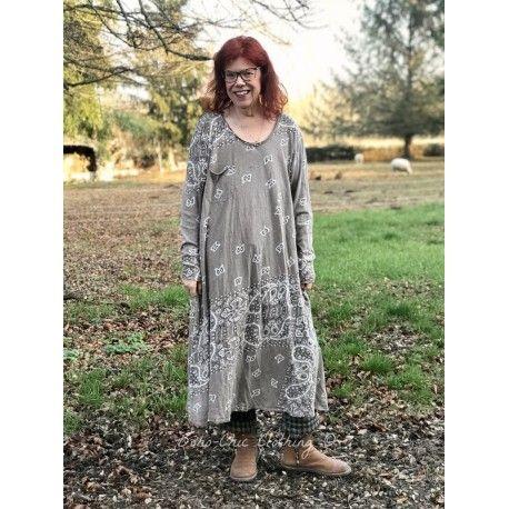dress Silas Paisley Sofiane in Clay