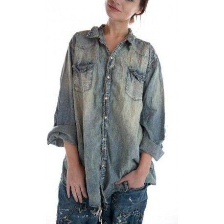 shirt Snap in Washed Indigo
