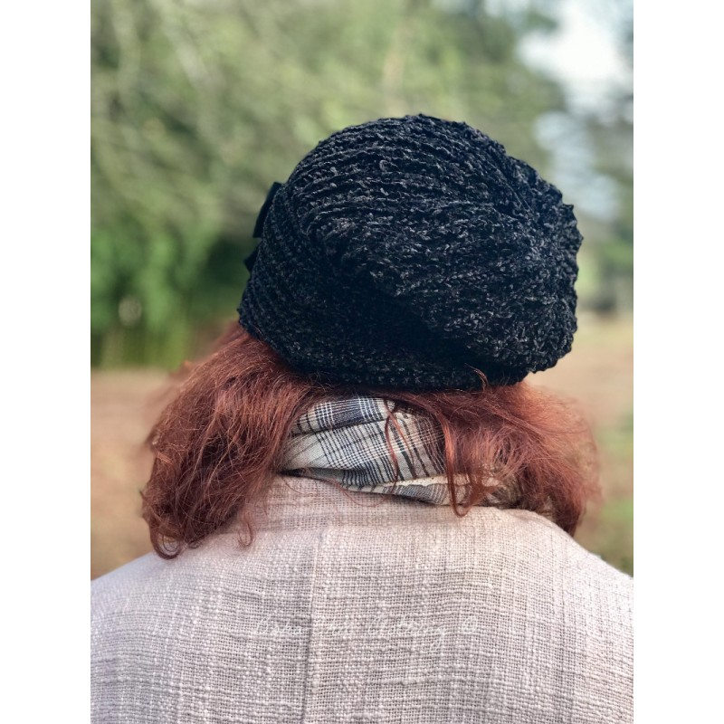 knit hat ANNABETH in black - Boho-Chic Clothing e431e24cf97