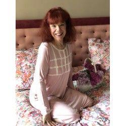 chemise de nuit AMBROISINE rose pastel