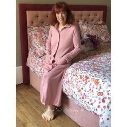 robe de chambre MELISSANDRE rose pastel