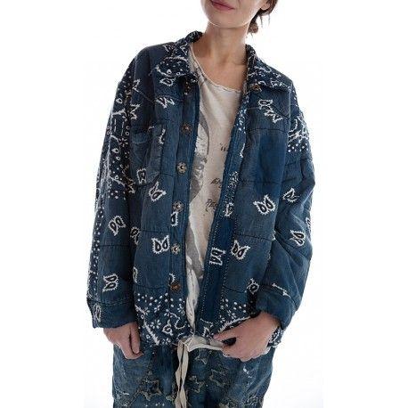jacket Asa Silas Bandana Puff in Boro