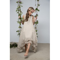 robe Delight joy en lin naturel