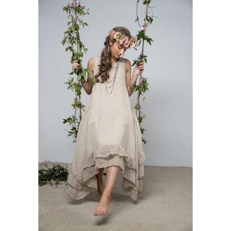 robe Delight joy en lin naturel