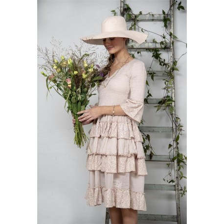 dress Joyous past in Soft rose cotton