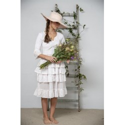 robe Joyous past en coton blanc