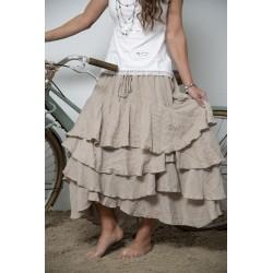 jupe Joyful moments en coton couleur lin naturel