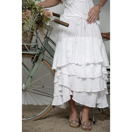 jupe Joyful moments en coton blanc