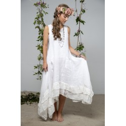 spencer dress Delight joy in White Linen