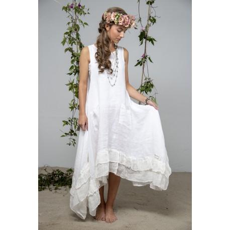robe Delight joy en lin blanc