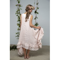 spencer dress Delight joy in Powder rose Linen