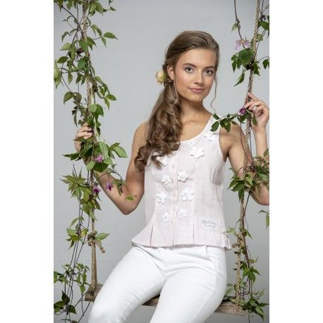 top Bohemian past in Rose Linen