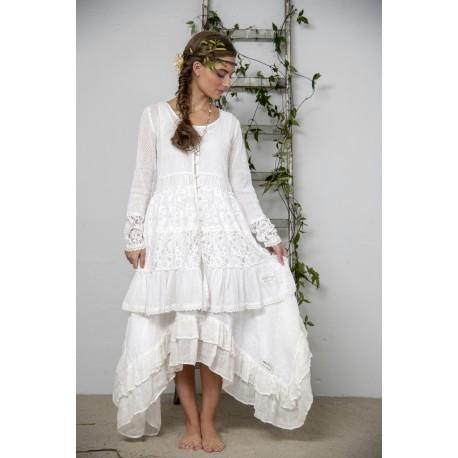 tunic Delightful past in White Cotton