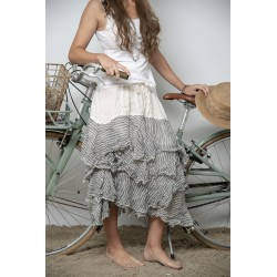 skirt Joyful spirit in Striped Linen
