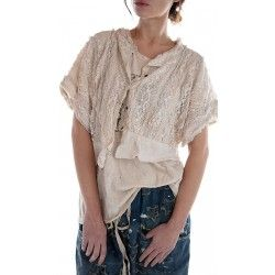blouse Cropped Marburger in Antique White