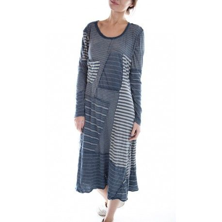 dress Patched Linear Sofiane in Boro