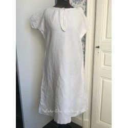 Vintage dress in linen with M.M monogram  - 1