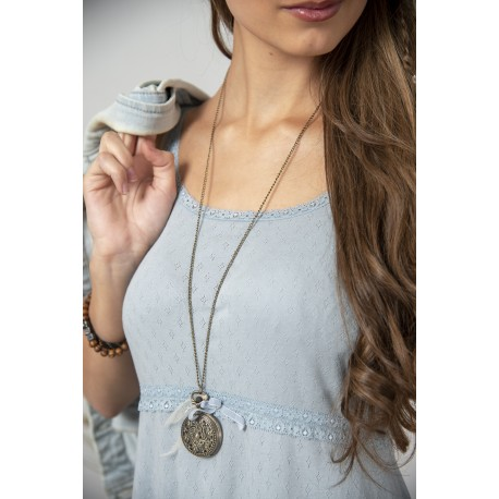 robe à fines bretelles Joyful moods en coton bleu ciel