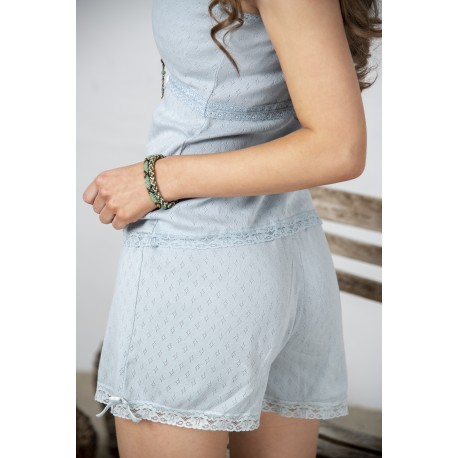 shorts Joyful moods in Dusty blue cotton