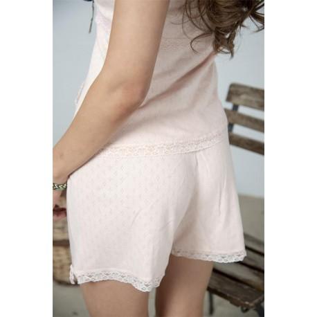 shorts Joyful moods in Powder rose cotton
