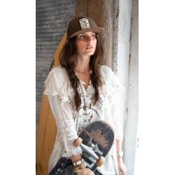 robe-veste Marie Antique White