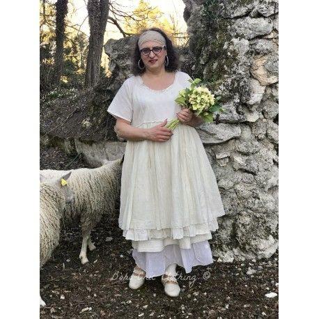 dress MOLLY in ecru linen