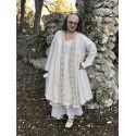 coat FANTINE in crochet and ecru linen