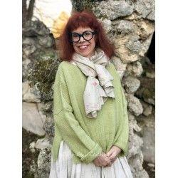 pullover JACOB in green woolen