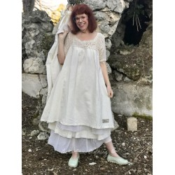 dress LOLITA in crochet and ecru linen