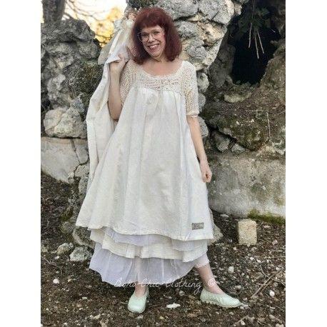 robe LOLITA crochet et lin écru