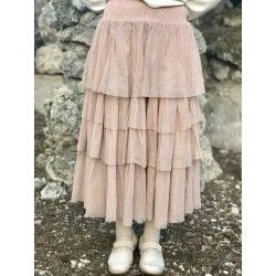 jupe / jupon EVE tulle coton rose
