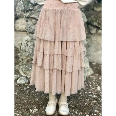 skirt / petticoat EVE in pink cotton tulle