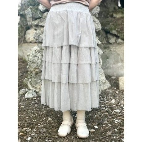 jupe / jupon EVE tulle coton gris