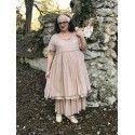 robe MOLLY lin vieux rose